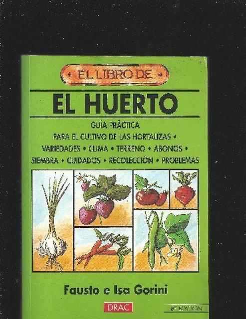Libro del huerto y cultivo